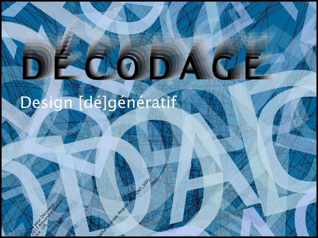 decodage generative design