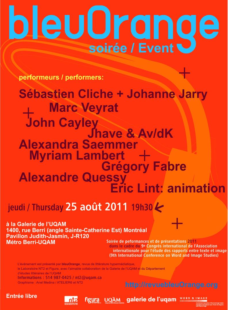 affiche soirée bleuOrange 2011